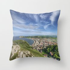 Great Orme View Throw Pillow