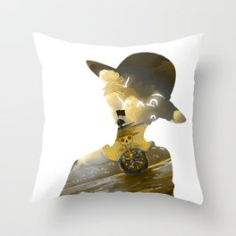 Pirate Boat Throw Pillow