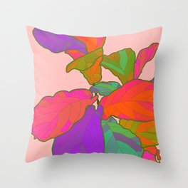 Funky Fiddle Throw Pillow