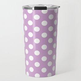 Violet Dots Pattern Travel Mug