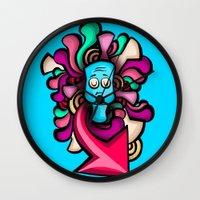foo fighters Wall Clocks featuring Foo by Shana-Lee