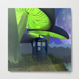 Tardis in the planet of alien Metal Print