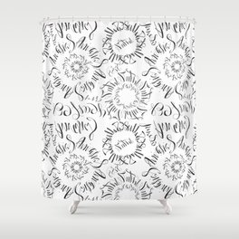 Calligraphic Dreams Shower Curtain