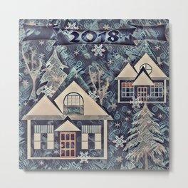 Christmas , Countryside Metal Print