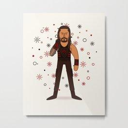 Roman Reigns - WWE Illustration Metal Print