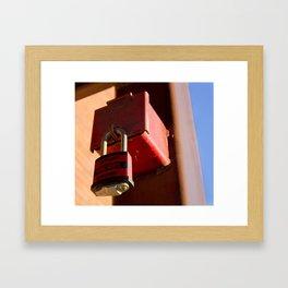 interlocked. Framed Art Print