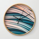 Vintage White and Blue Abstract Strands by lovefi