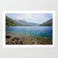 Crescent Lake Olympic Peninsula Art Print