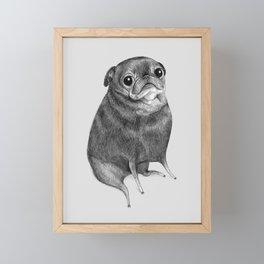 Sweet Black Pug Framed Mini Art Print