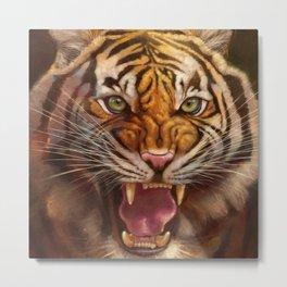 Roaring Tiger Metal Print