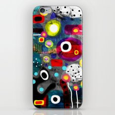 Abstract Grungy Distressed Art Dark Polka Dots iPhone & iPod Skin
