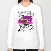 manchester Long Sleeve T-shirts featuring Manchester Terier by Genco Demirer