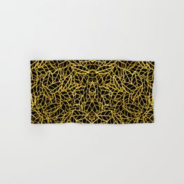 Sketchy Palms in Flapper Gold Hand & Bath Towel