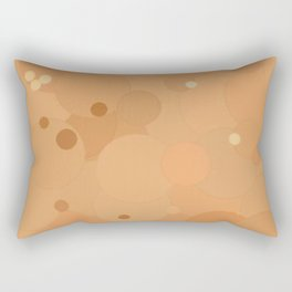 Peach Cobbler Bubble Dot Color Accent Rectangular Pillow