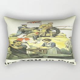 Vintage poster - Are YOU in this? Rectangular Pillow