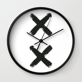 Black Cross Wall Clock