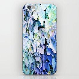 Soft Tri-Color Pastel Hydrangea iPhone Skin