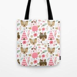 Pink Boho Animals Tote Bag