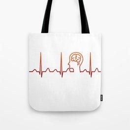 Neurologist Heartbeat Tote Bag