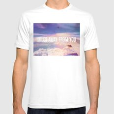 Miles Away From You MEDIUM Mens Fitted Tee White