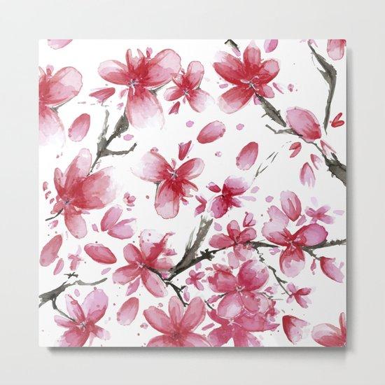 Cherry Blossoms #society6 #buyart Metal Print