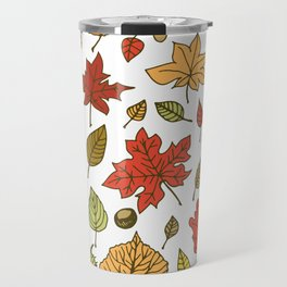Autumn leaves, berries and nuts Travel Mug
