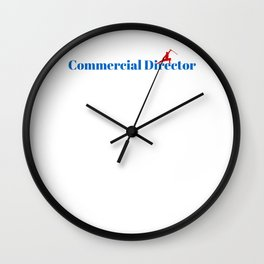 Commercial Director Ninja in Action Wall Clock