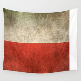 Old and Worn Distressed Vintage Flag of Poland Wall Tapestry