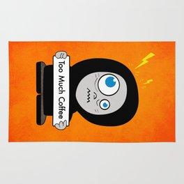 Orange Funny Too Much Coffee Rug