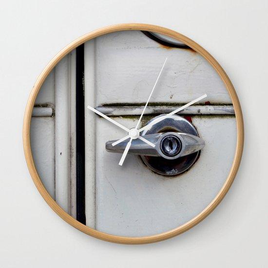 Rusty door Wall Clock