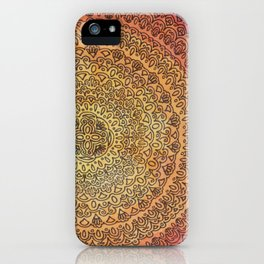 The Center of It All in Color iPhone Case