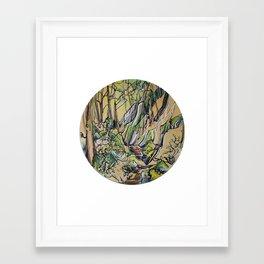 Sea to Summit :: Single Line Framed Art Print