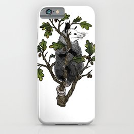Oak Opossum by Boo Hag iPhone Case