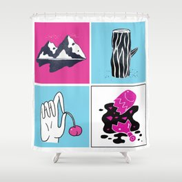 Lonesome When You're Around Shower Curtain