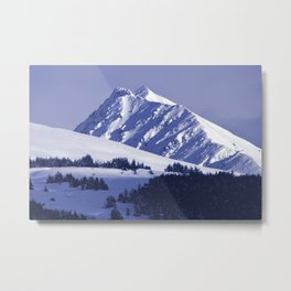 Back-Country Skiing - 8 Metal Print