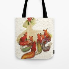 aesop's fable - the fox and his tail Tote Bag