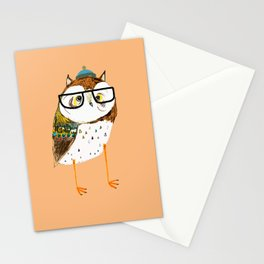 Owl Hipster Stationery Cards