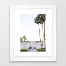 That Pink Door, Palm Springs Framed Art Print