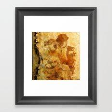Monsieur and Madame Bone just married Framed Art Print
