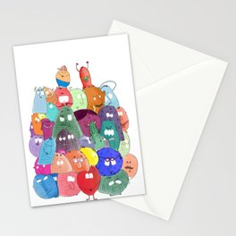 Annoying monsters Stationery Cards