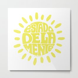 State of mind Sundried Yellow Metal Print