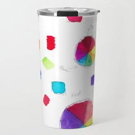 Color Wheel and Paint Swatches Travel Mug