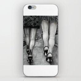 Untitled - Charcoal Drawing - pretty girls, female figure, legs, sexy, beauty iPhone Skin