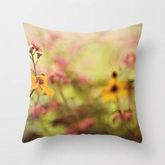 Lemon drop Flower box Throw Pillow