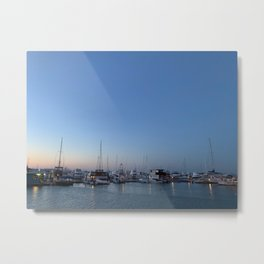 Sunset and Boats at the bay at Nelsons Bay, NSW, Australia Metal Print