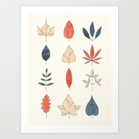 leaves Art Prints featuring Leaves by Tracie Andrews