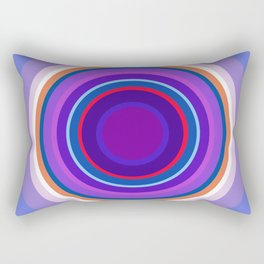 Mod Circles in Periwinkle and Purple Rectangular Pillow