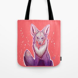 Colorful Coyote Tote Bag