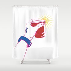The Party Cup - v2 Shower Curtain