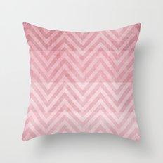 pink chevron II Throw Pillow
